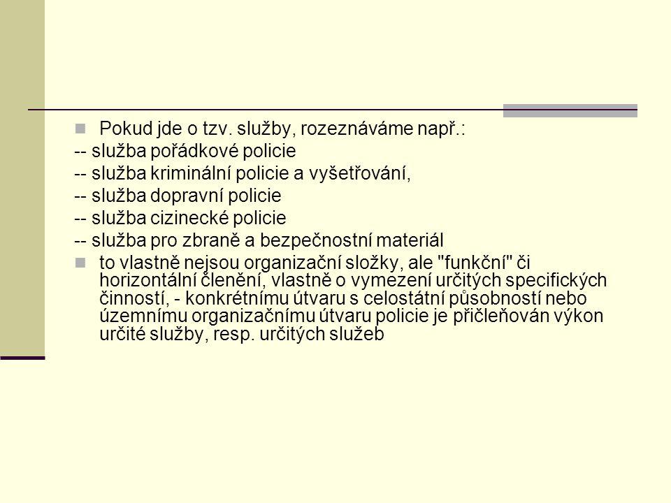 Postavení policisty, povinnosti a práva policistů Povinnosti policistů: Základní zásady činnosti (§ 2 – 8 spr.