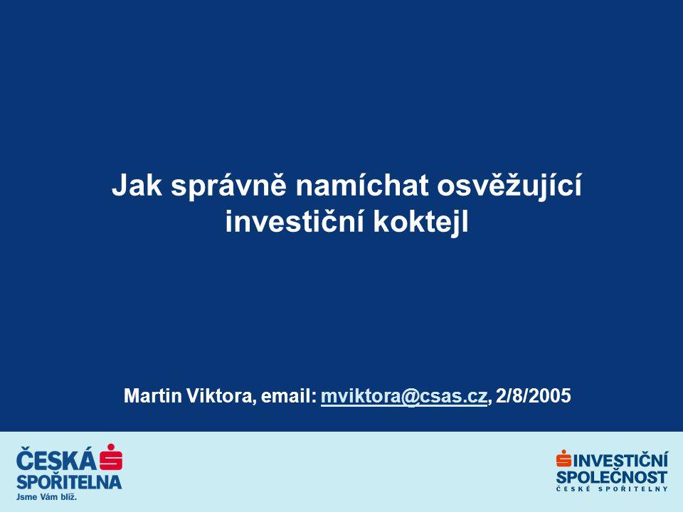 2 Dnešní program Máme pro vás investiční řešení! Investiční profily Profilové fondy