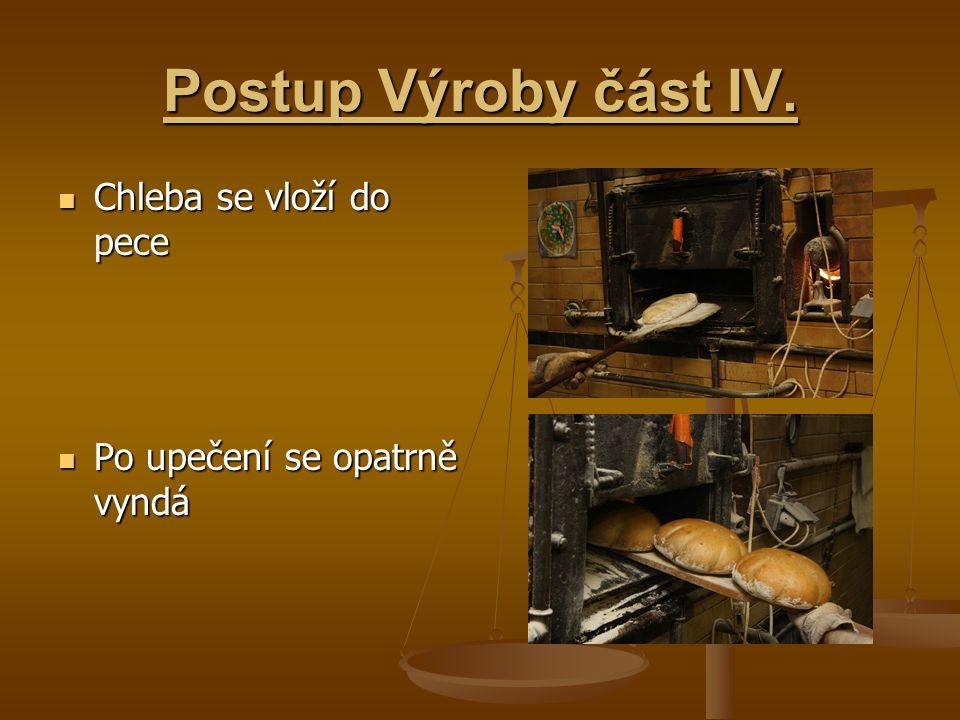 Postup Výroby část IV.