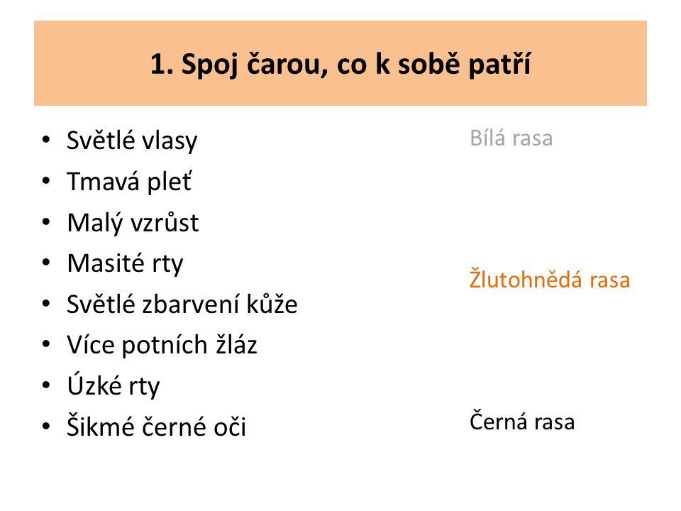 2.Doplň tvrzení: Většina obyvatel ČR jsou příslušníci ……..