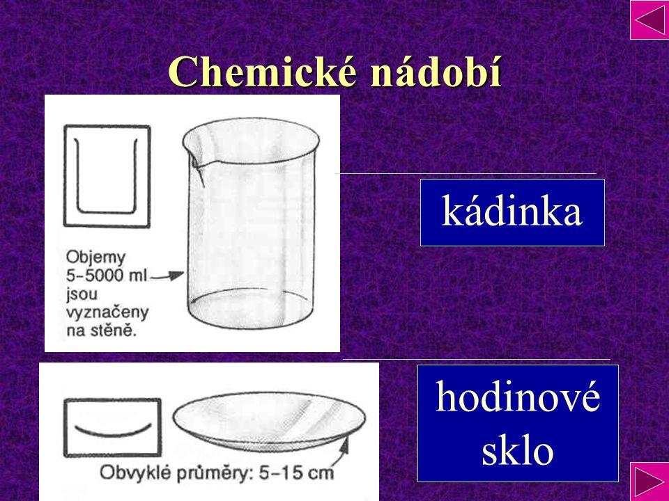 Chemické nádobí kádinka hodinové sklo