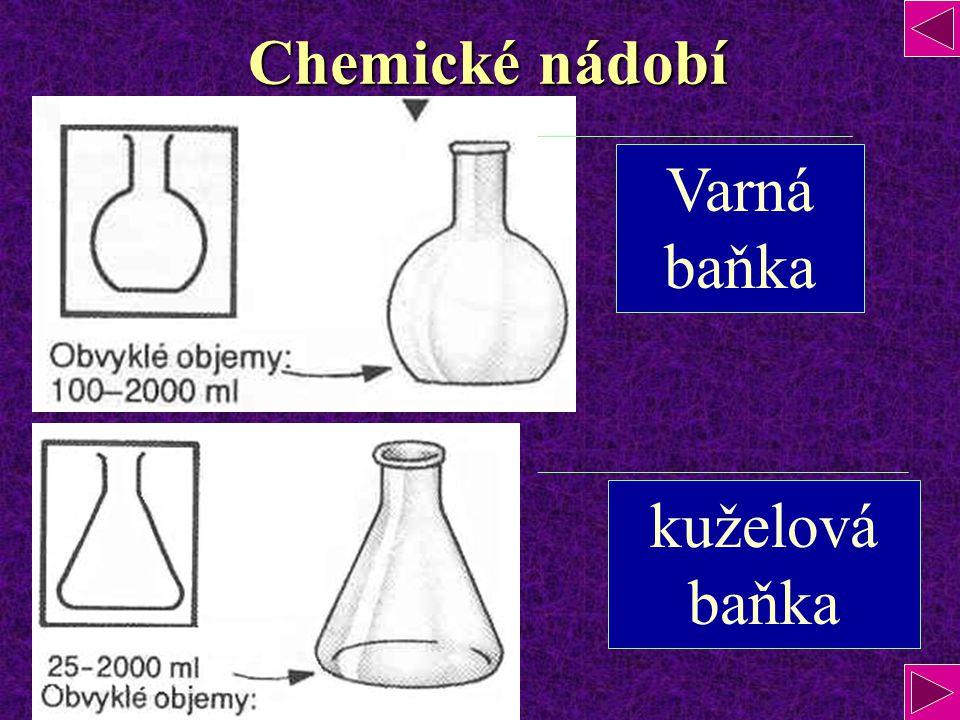Chemické nádobí Varná baňka kuželová baňka