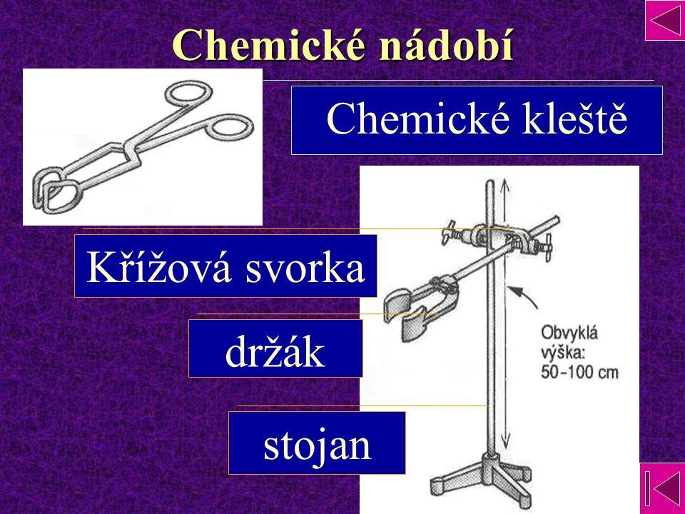 Chemické nádobí Chemické kleště stojan držák Křížová svorka