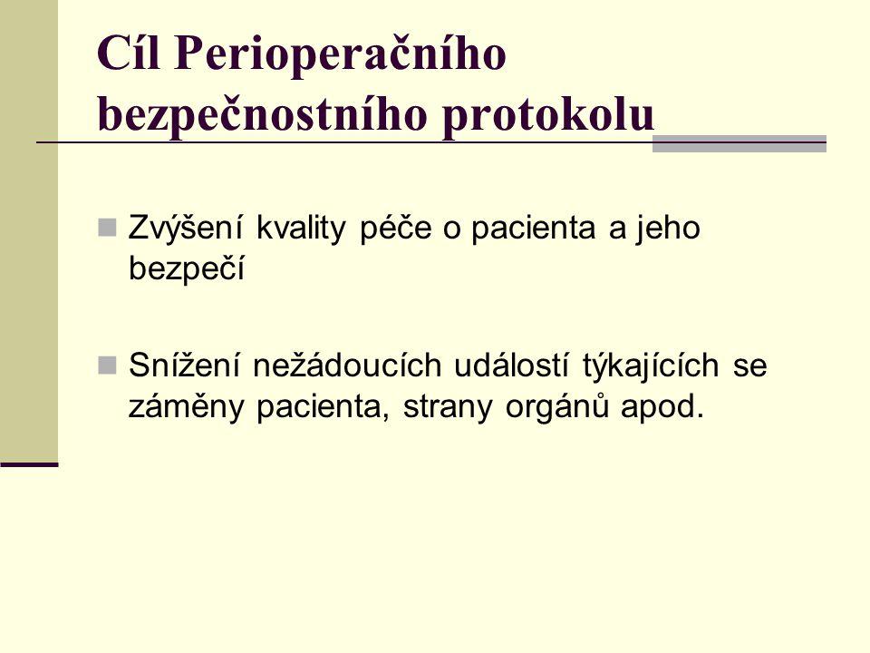 Perioperační bezpečnostní protokol