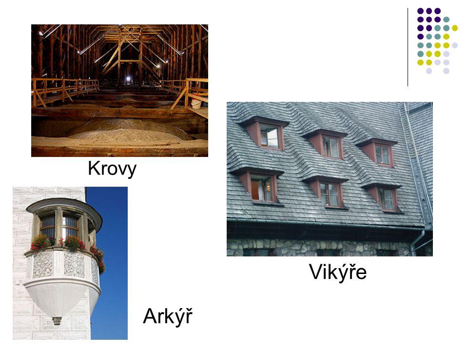 Krovy Vikýře Arkýř