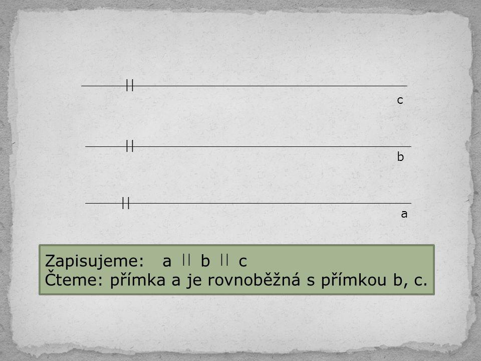 b) Sestroj přímku a a zvol bod B, který na ní neleží.