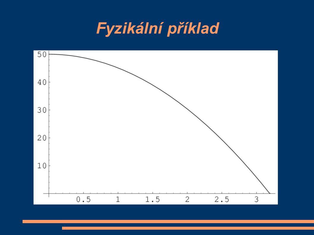Fyzikální příklad