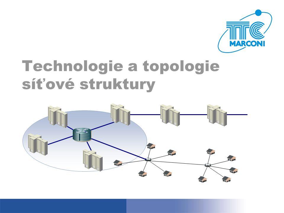 Technologie a topologie síťové struktury