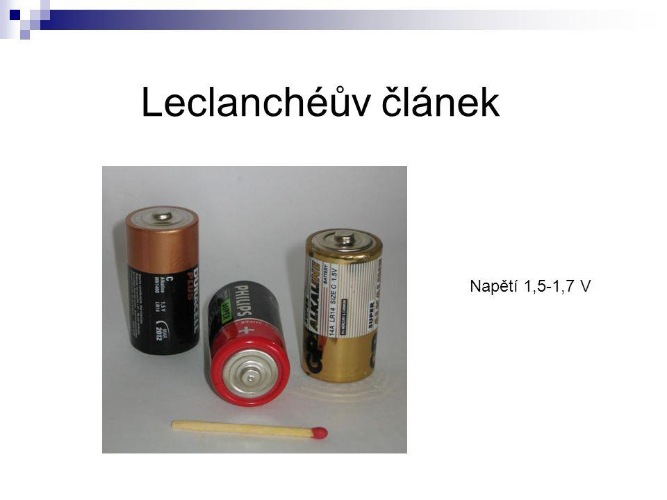 Palivový článek galvanický článek pro přeměnu chemické energie plynné látky na energii elektrickou vysoká účinnost (teor.