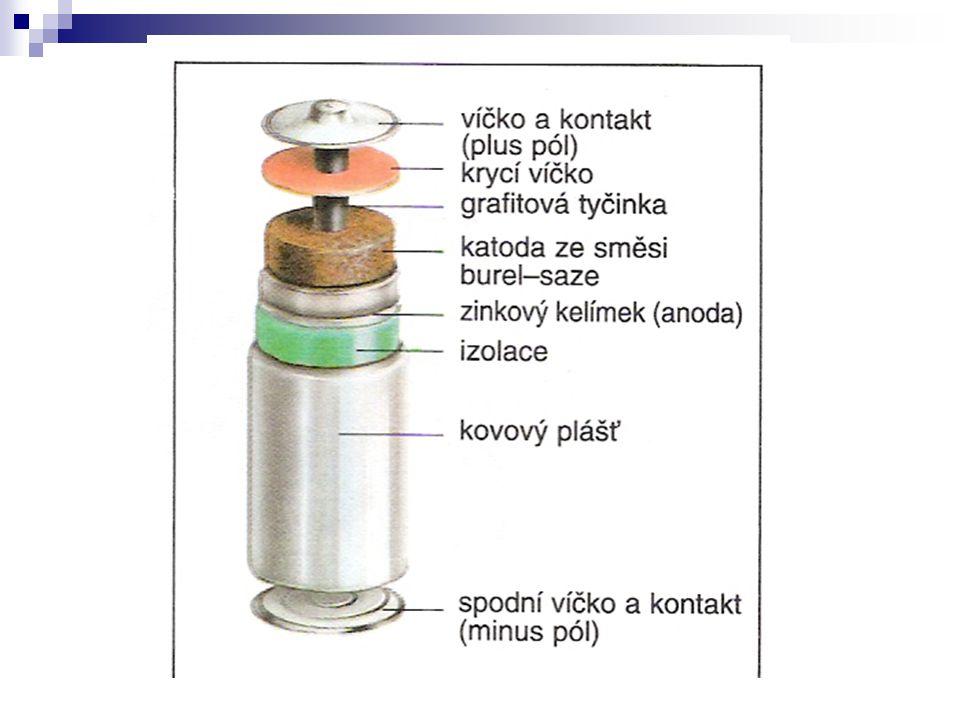 Lithiový článek baterie (hl.do fotoaparátů na kinofilm), notebooky, mobily, hodinky, kalkulačky lithiový akumulátor se ale asi po dvou letech znehodnotí sám od sebe Napětí až 3,5 V