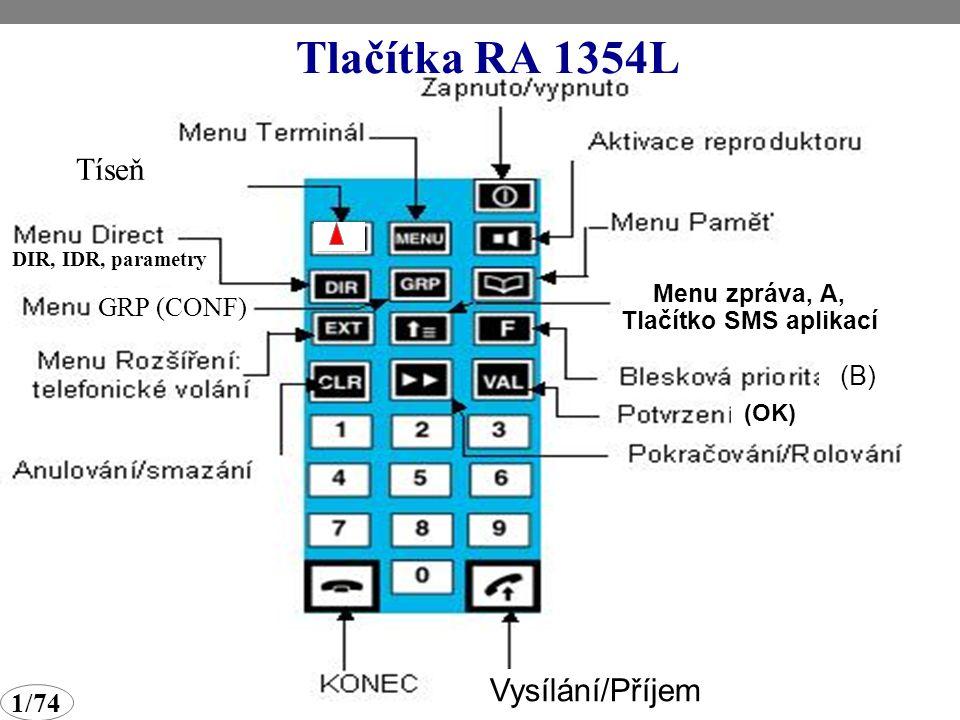 Zpracoval: Ing. Otakar Koucký 1/74 Ovladač-mikrotelefon RA 1354L