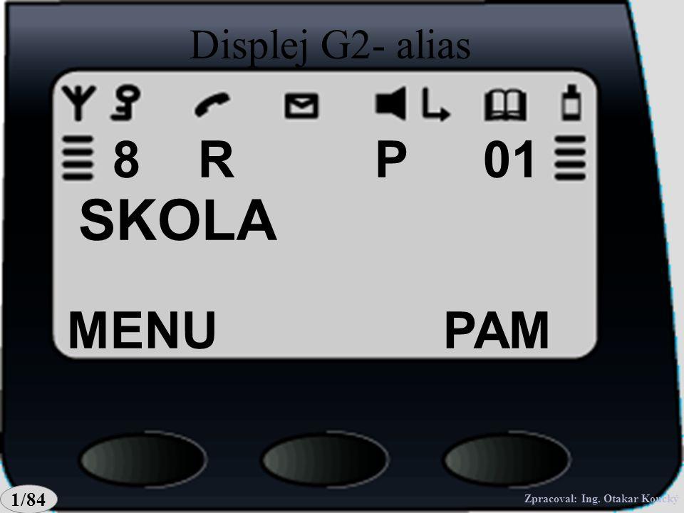 MENUPAM OTEV. 247 P018 Displej G2- OCH247 R 1/84 Zpracoval: Ing. Otakar Koucký