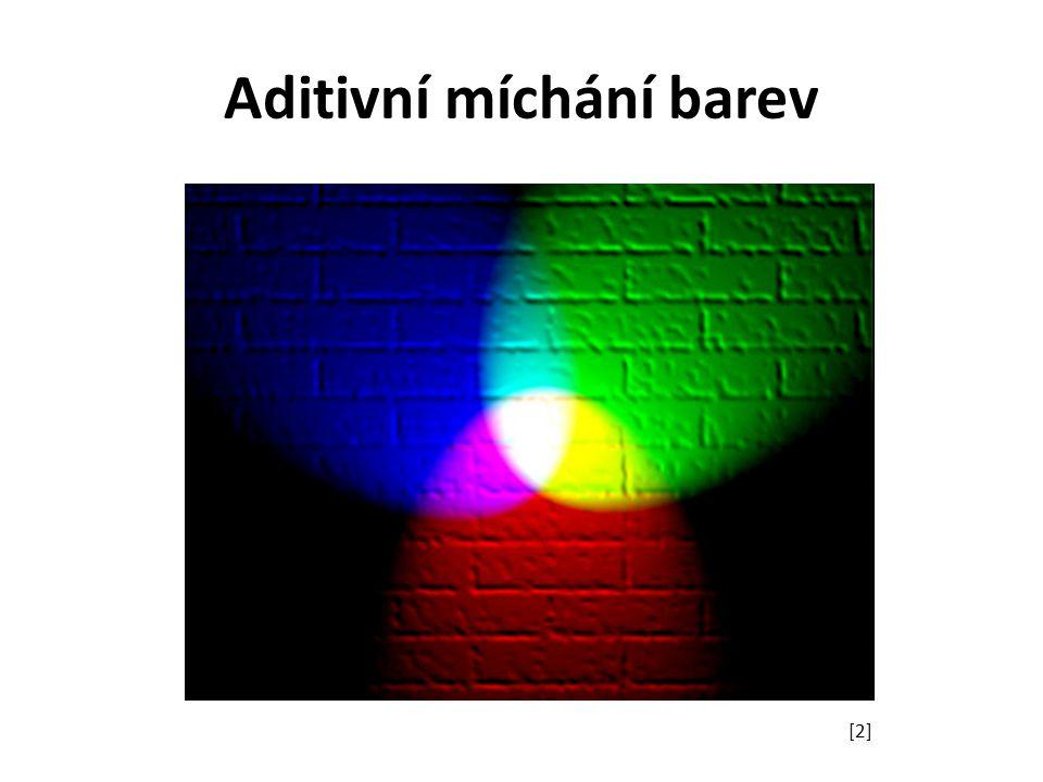 Subtraktivní míchání barev využívá odraz světla s každou přidanou barvou se ubírá část původního odraženého světla odpovídá míchání pigmentových barev používají například tiskárny barevný model CMYK