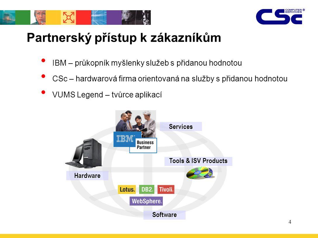 4 Partnerský přístup k zákazníkům IBM – průkopník myšlenky služeb s přidanou hodnotou CSc – hardwarová firma orientovaná na služby s přidanou hodnotou