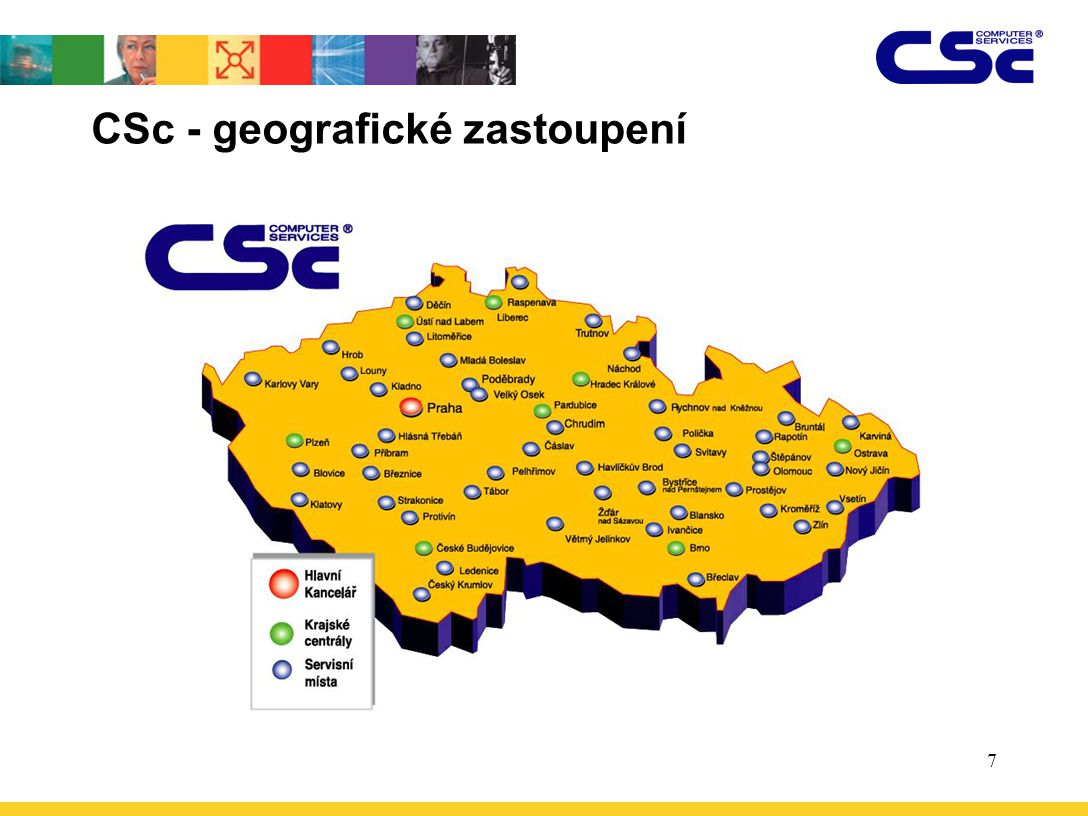 7 CSc - geografické zastoupení