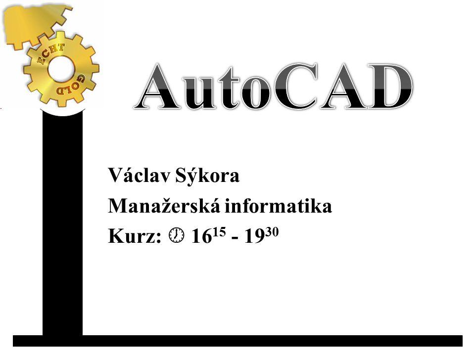 Václav Sýkora Manažerská informatika Kurz:  16 15 - 19 30