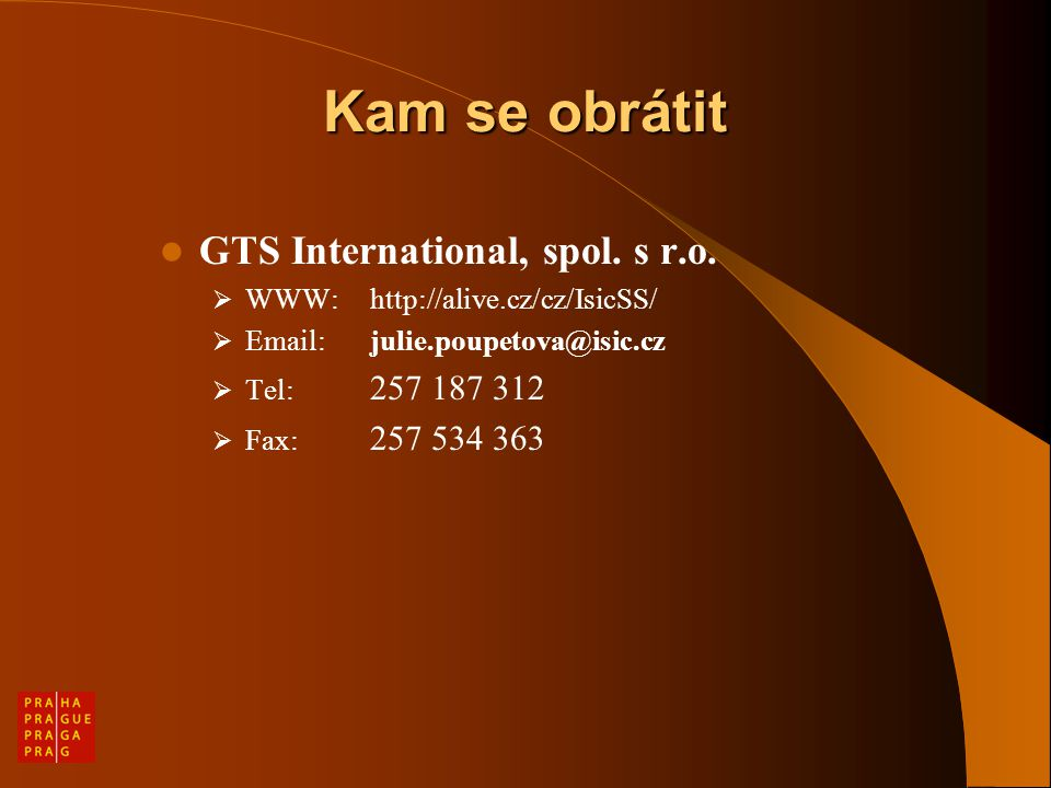 Kam se obrátit GTS International, spol. s r.o.