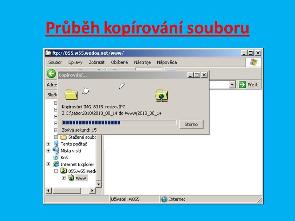 Průběh kopírování souboru