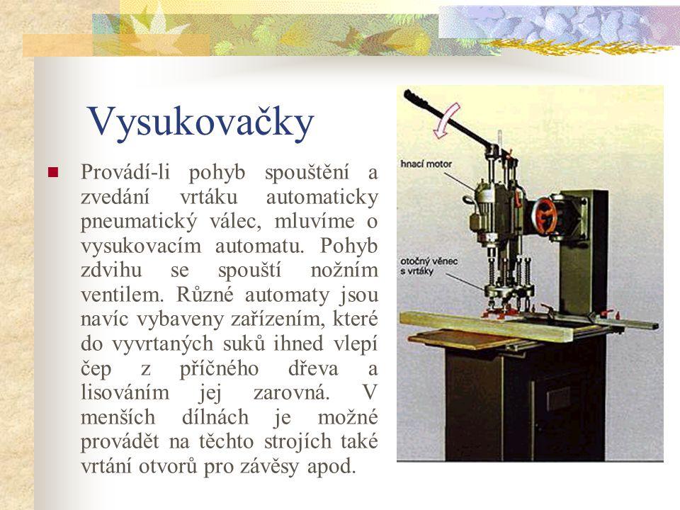 7.6.2Vysukovačky Vysukovačka slouží k vyvrtávání suků, výrobě zátek z příčného dřeva a k zavrtávání kování.