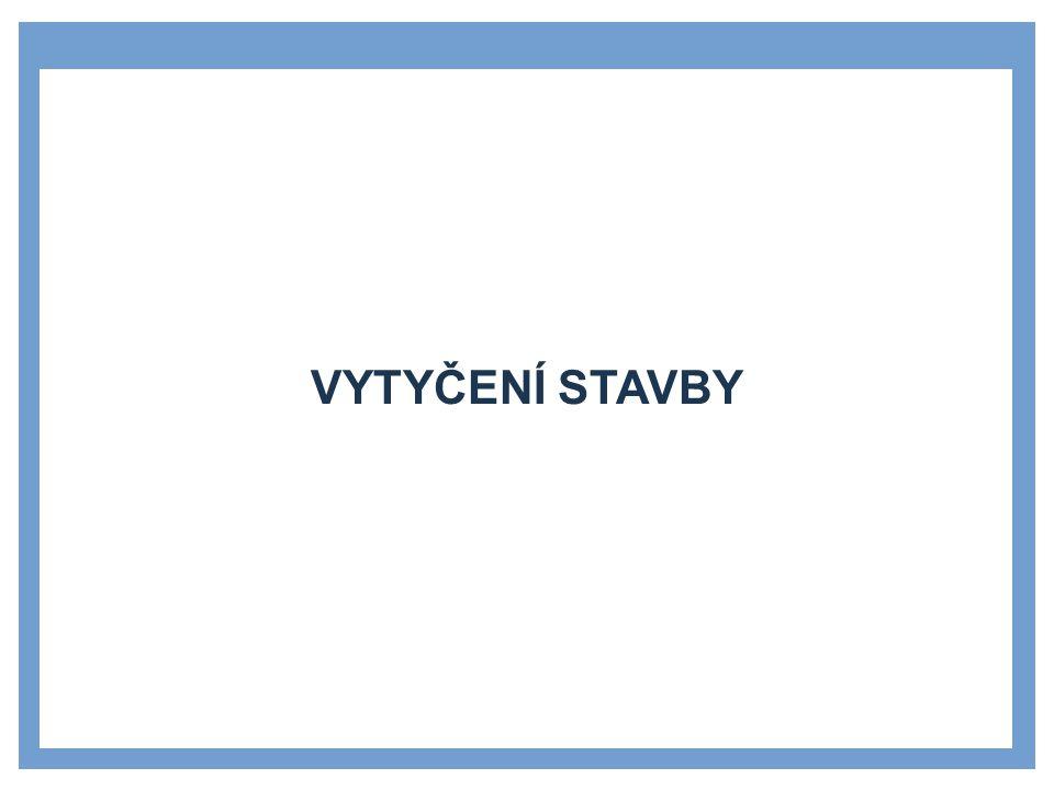 VYTYČOVACÍ BODY A SÍTĚ »Polohové body a sítě »polohové body vytvářejí Českou státní trigonometrickou síť (ČSTS) »tyto body jsou v terénu stabilizovány kameny s opracovanou hlavou s vytesaným křížkem »Výškové body a sítě »výškové body vytvářejí Českou státní nivelační síť (ČSNS) složenou z bodů 1.–4.