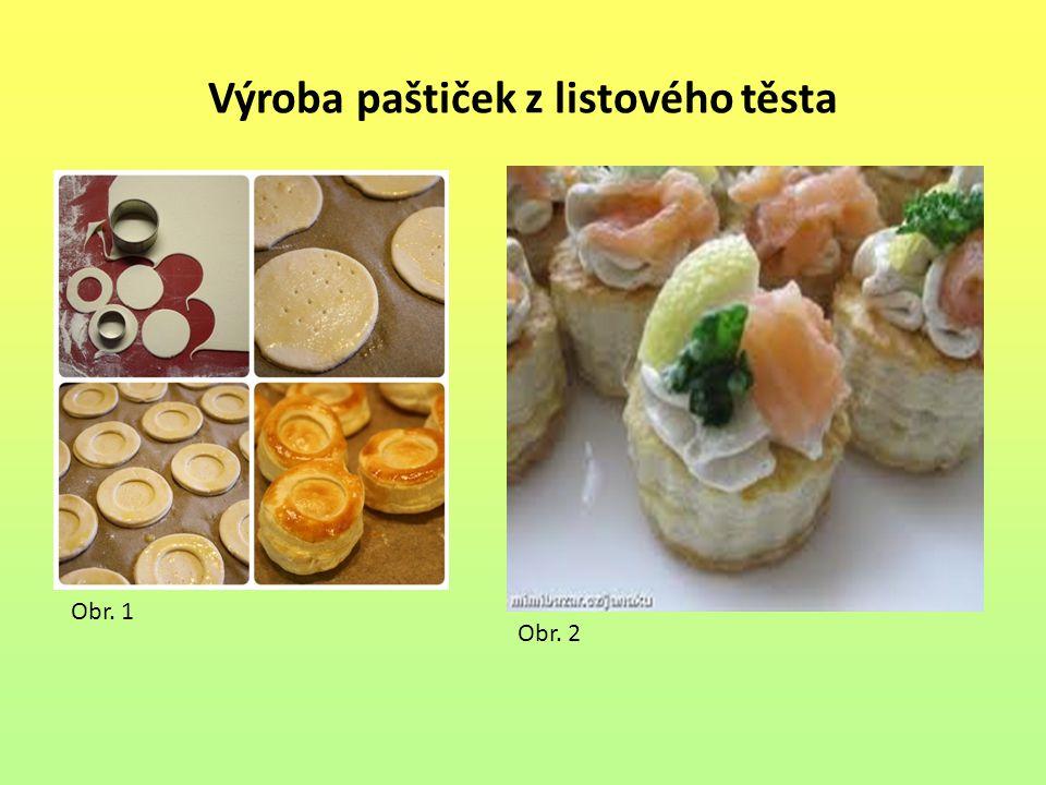 Výroba paštiček z listového těsta Obr. 1 Obr. 2