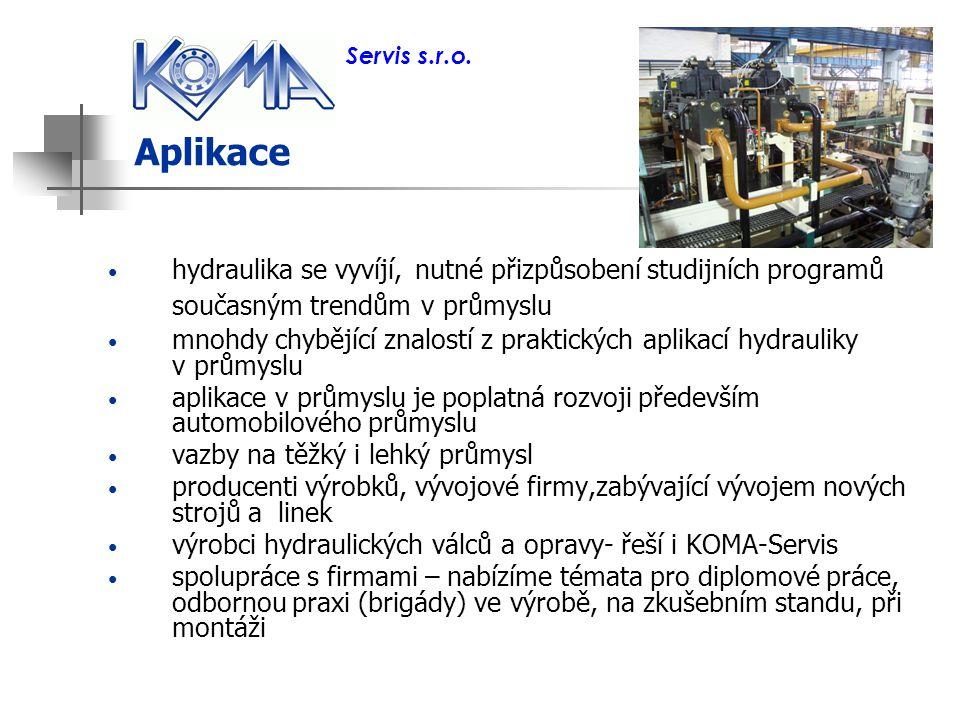 Aplikace hydraulika se vyvíjí, nutné přizpůsobení studijních programů současným trendům v průmyslu mnohdy chybějící znalostí z praktických aplikací hy