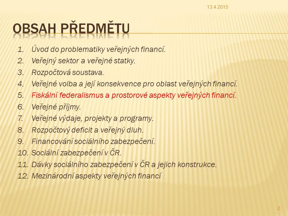 Součásti veřejné správy v ČR 13.4.201533