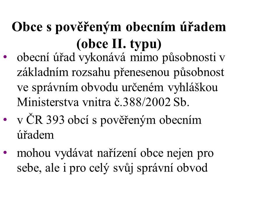 Obce s pověřeným obecním úřadem (obce II.