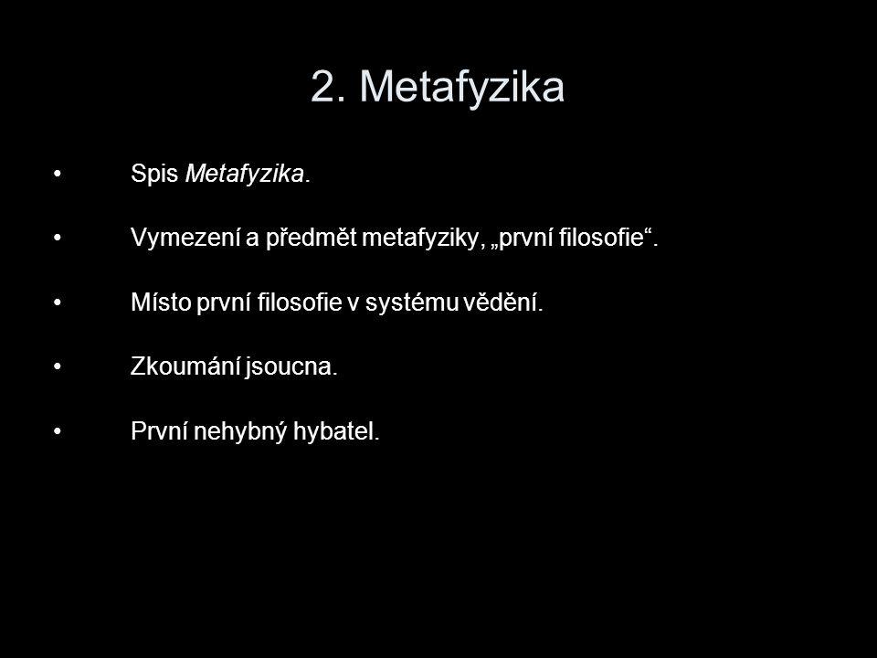 Spis Metafyzika Jednoznačně jde o seřazení původně samostatných pojednání.