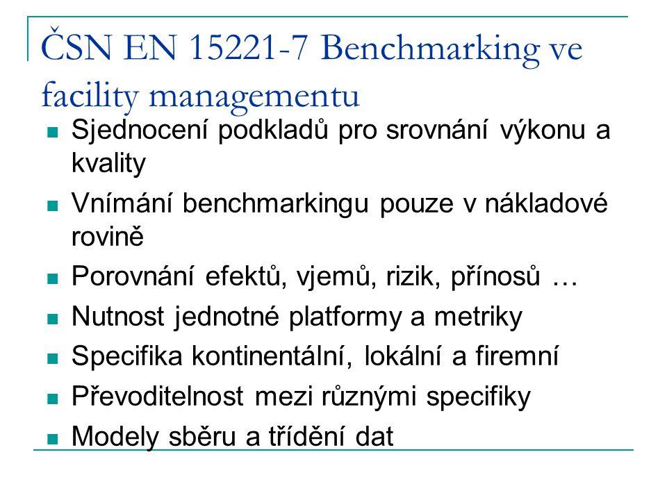 Hodnocení výkonnosti FM výkonový benchmarking  srovnání klíčových služeb  otázky ceny, kvality, vlastností výkonů, rychlosti, spolehlivosti a pod.