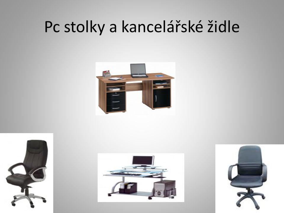Pc stolky a kancelářské židle