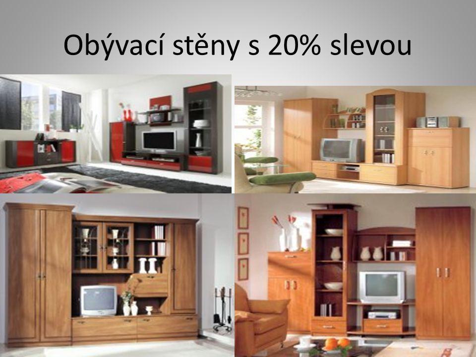 Obývací stěny s 20% slevou