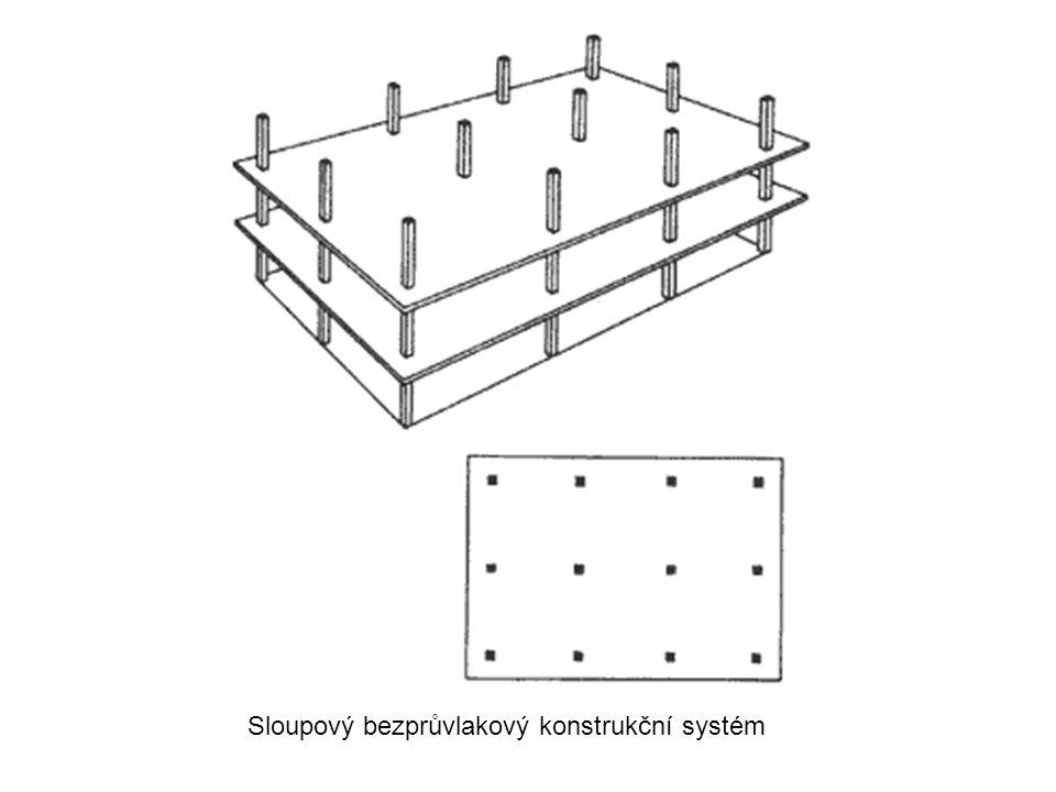 Sloupový bezprůvlakový konstrukční systém