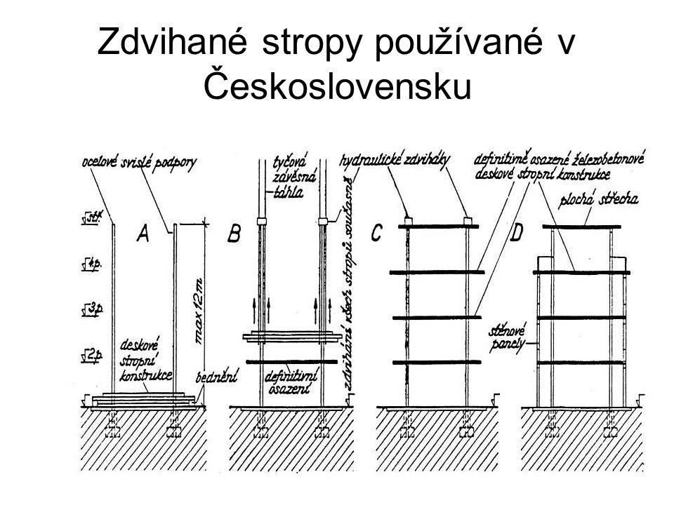 Zdvihané stropy používané v Československu