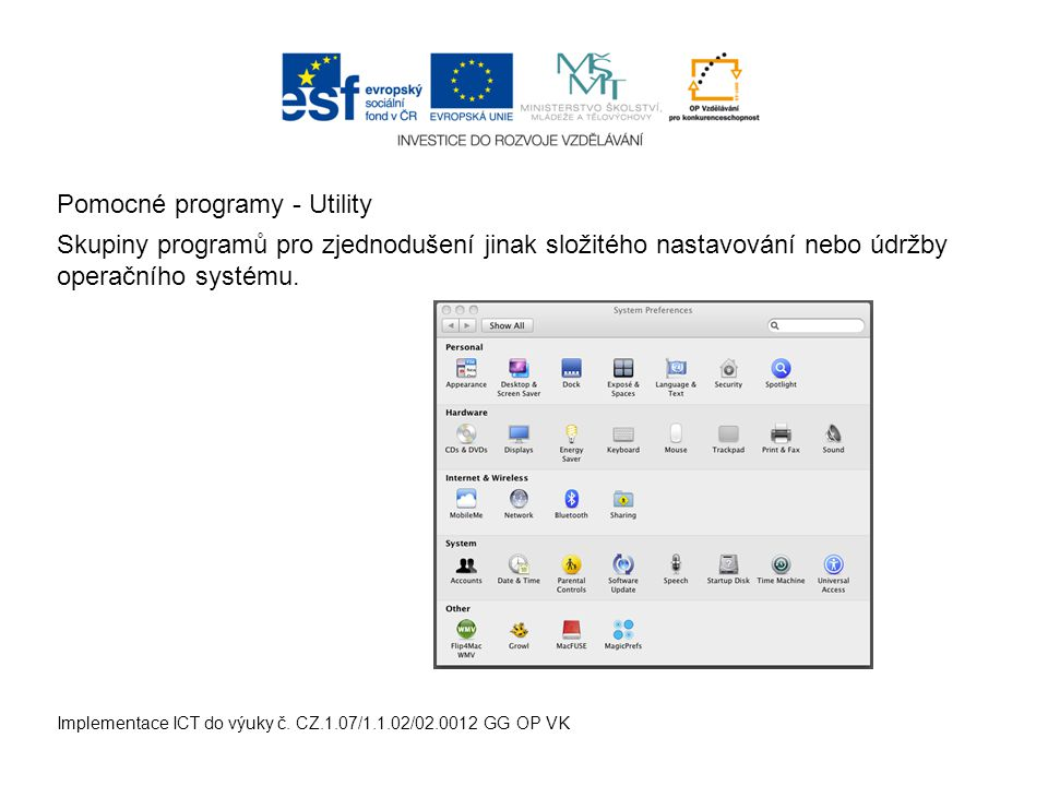 Implementace ICT do výuky č.