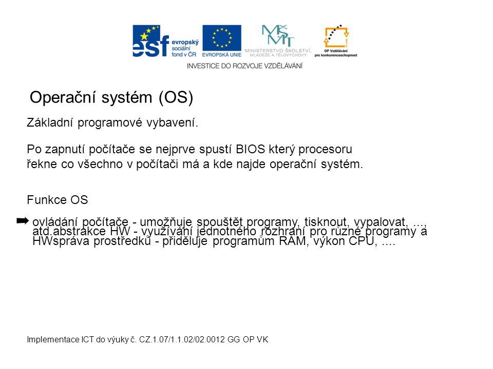 Uživatelské rozhraní (User Interface - UI) Implementace ICT do výuky č.