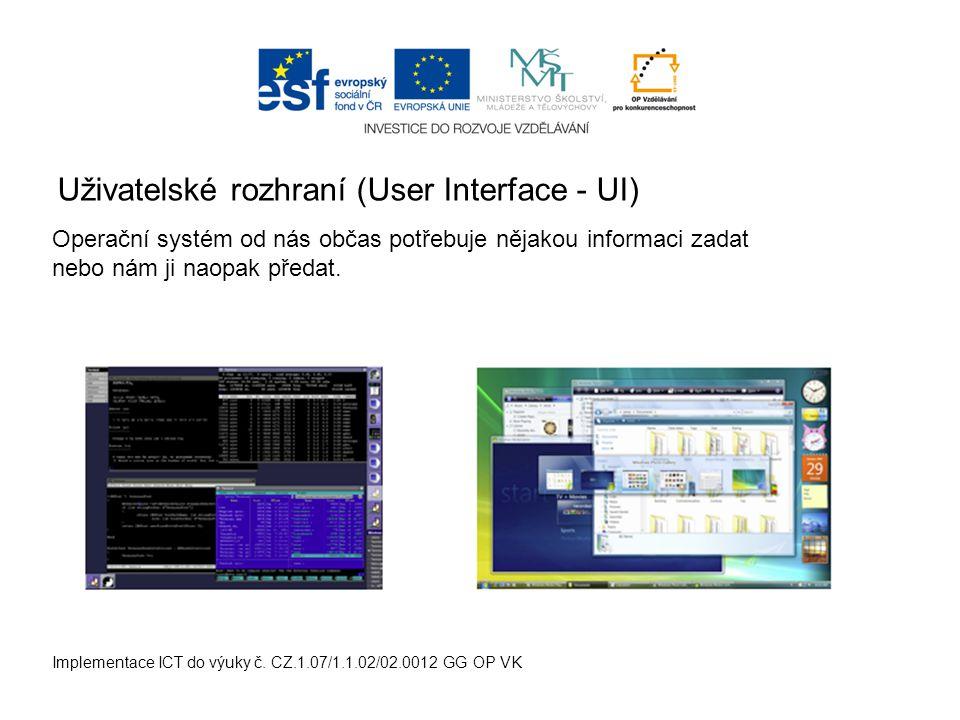 Druhy nejpoužívanějších OS používaných v počítačích Implementace ICT do výuky č.