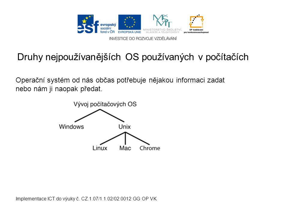 Implementace ICT do výuky č.CZ.1.07/1.1.02/02.0012 GG OP VK Slouží k uchování a třídění dat (např.