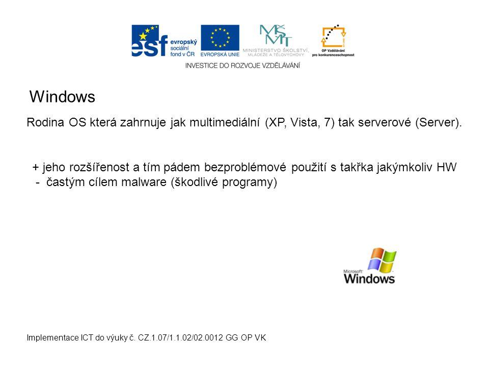 Mac OS Implementace ICT do výuky č.