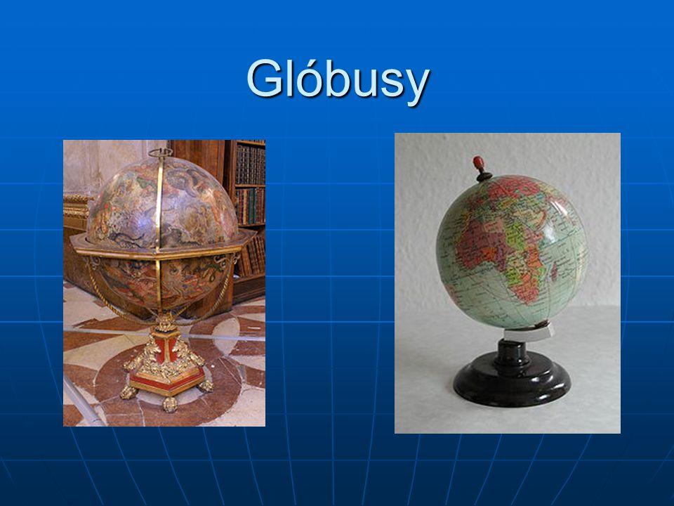 Glóbus Glóbus představuje tvar zeměkoule ve velkém zmenšení.