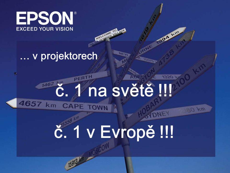 … v projektorech č. 1 na světě !!! č. 1 v Evropě !!!