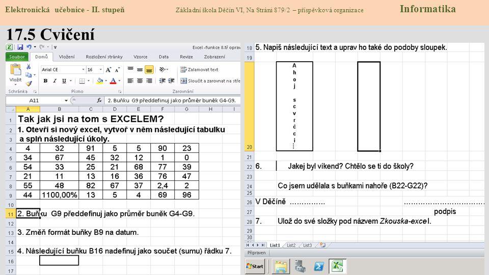 17.5 Cvičení Elektronická učebnice - II.