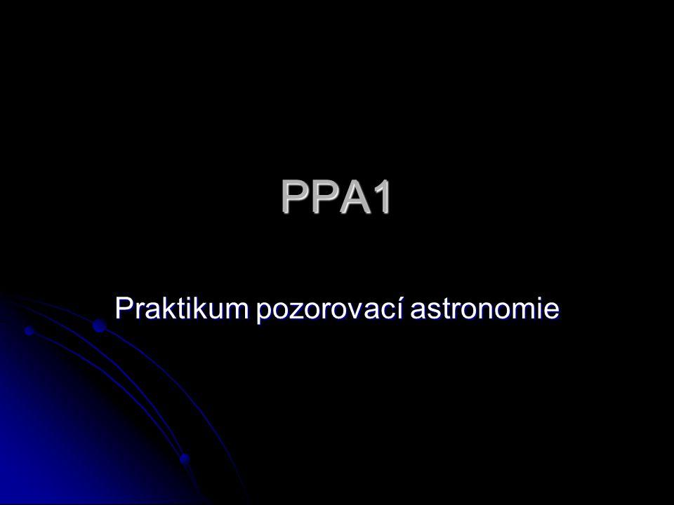 PPA1 Praktikum pozorovací astronomie