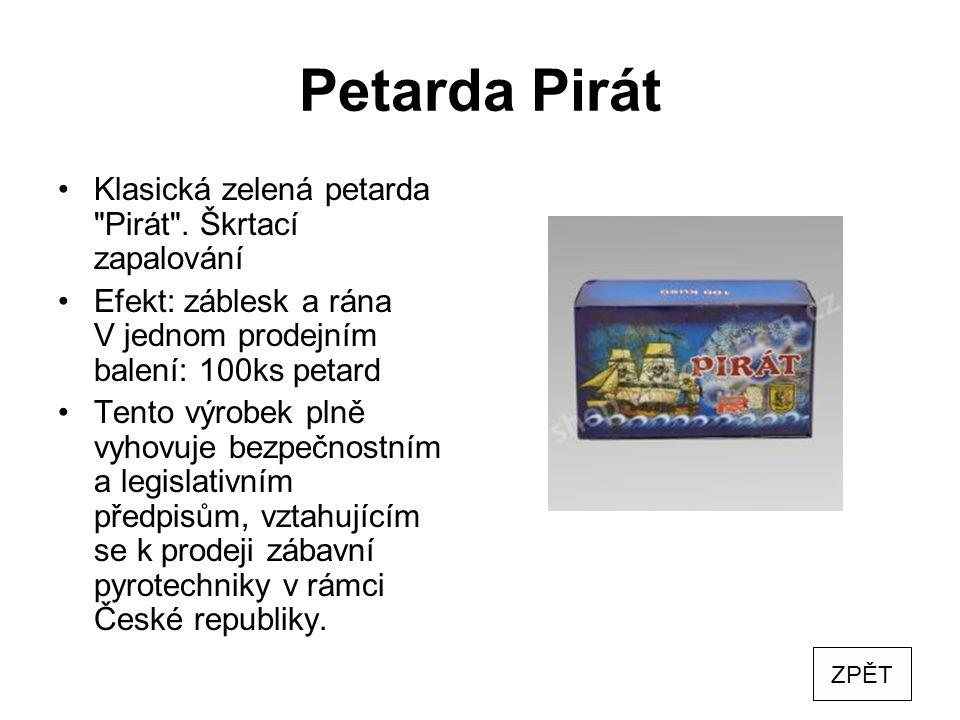 Petarda Pirát Klasická zelená petarda