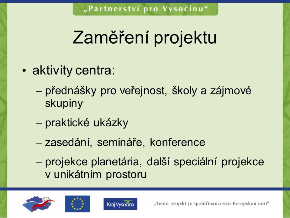 Smysl projektu Celkovým smyslem je vzdělávání a zvýšení image města Jihlavy jako turistické destinace a centra vzdělanosti
