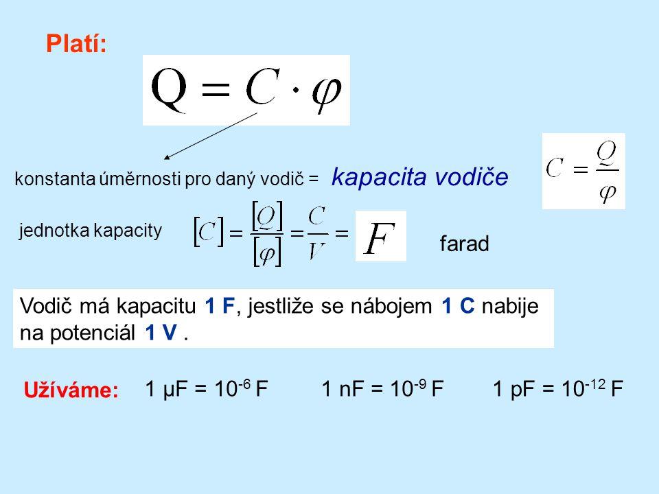 R Pro potenciál osamělého kulového vodiče ve vakuu platí: vyjádříme a porovnáním se vztahem 118/47