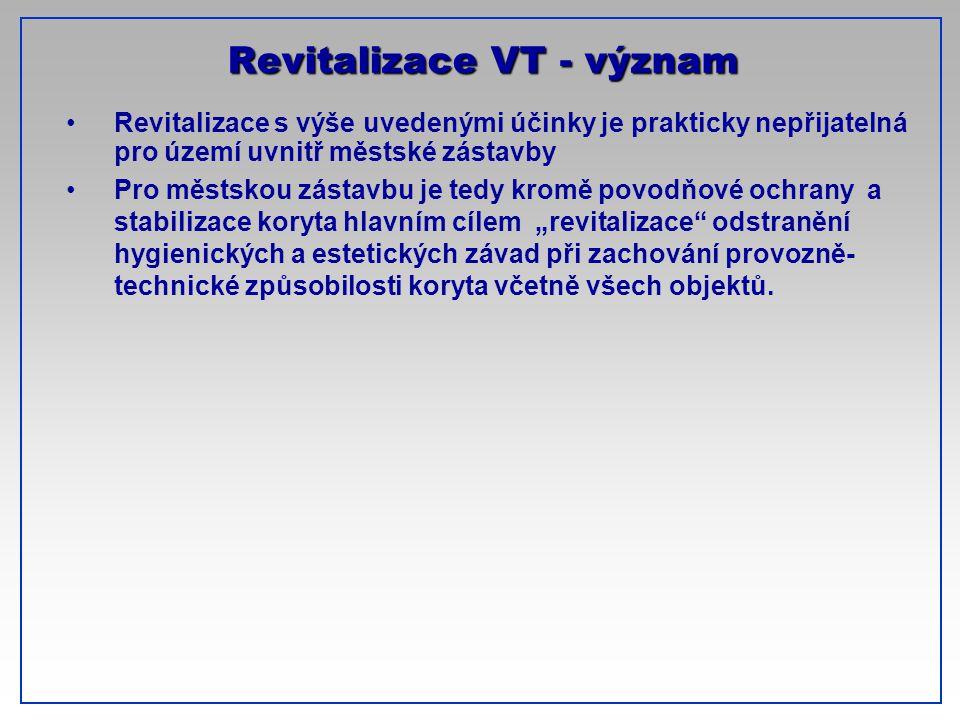 CTU-Prague Revitalizace VT - význam Revitalizace s výše uvedenými účinky je prakticky nepřijatelná pro území uvnitř městské zástavby Pro městskou zást