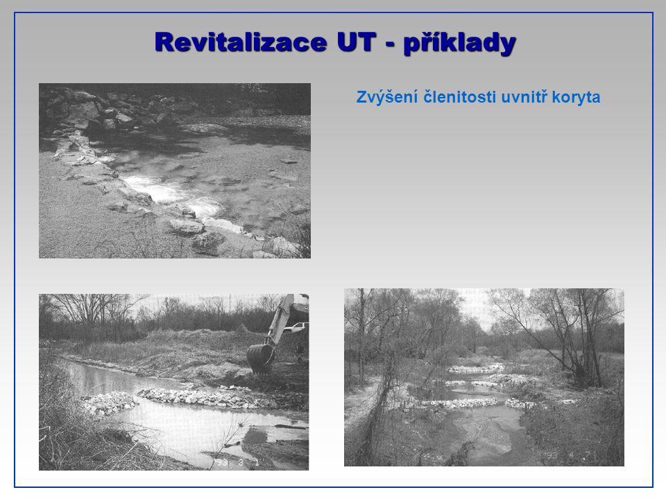 CTU-Prague Revitalizace UT - příklady Zvýšení členitosti uvnitř koryta