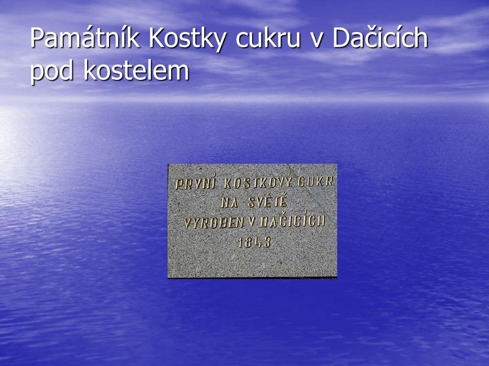 Památník Kostky cukru v Dačicích pod kostelem