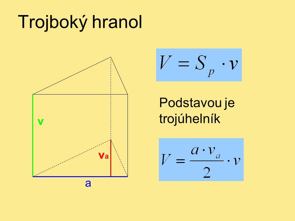 Trojboký hranol a v vava Podstavou je trojúhelník